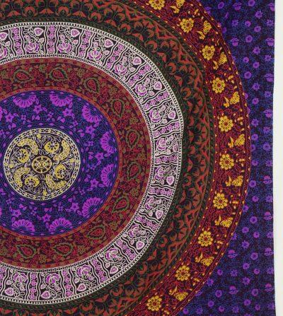 Großes Wandtuch Kreis Mandala multicolor