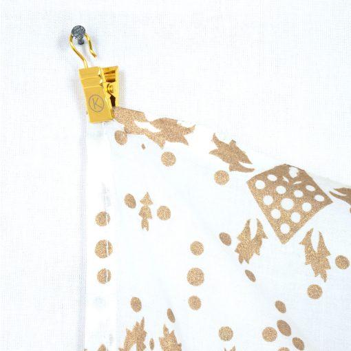 Kleines Mandala Tuch in weiß gold