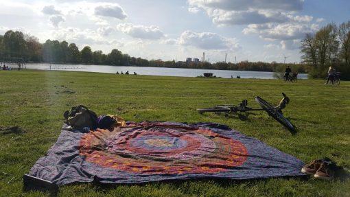 Wandtuch Kreis Mandala multicolor Kundenbild - groß