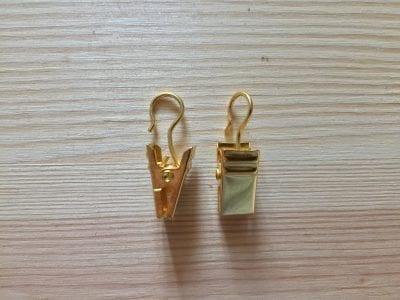 Gardinenklammern mit Haken in Gold