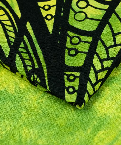 Großes Wandtuch mit Elefant in grün