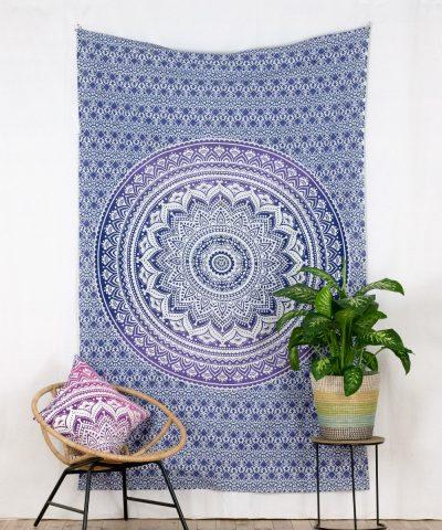 Wandtuch Ombre Mandala lila