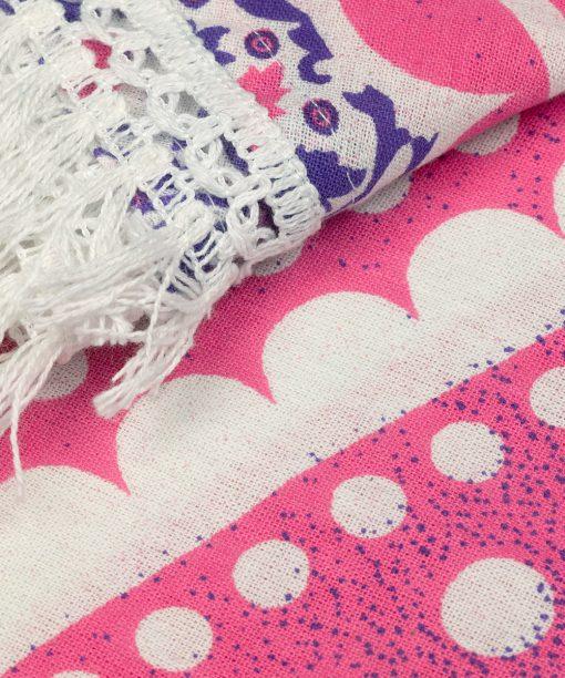 Strandtuch Ombre Mandala lila rosa