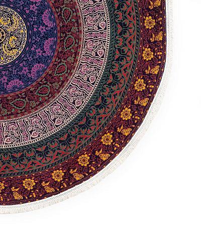 Strandtuch mandala multicolor mit Fransen