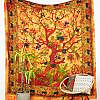 Großes Wandtuch mit Lebensbaum in orange