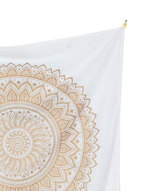 Gold Wandtuch Traumfänger weiß