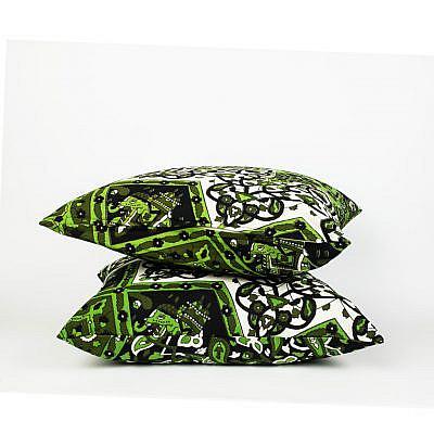 Mandala Kissen in schwarz grün