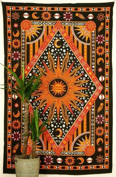 Wandtuch Astro schwarz orange