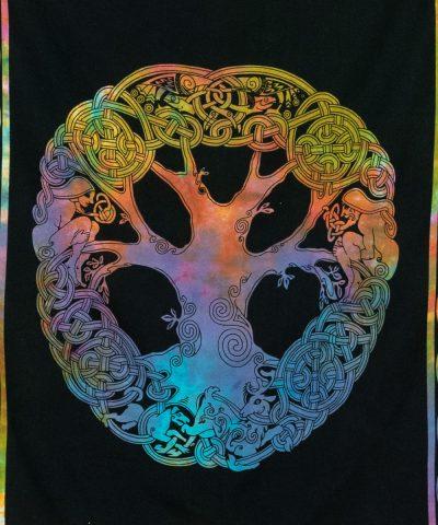 Wandtuch keltischer Knoten bunt im Detail