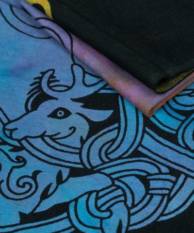 Wandtuch keltischer Knoten batik bunt im Detail