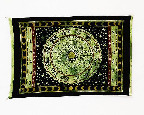 Wandtuch mit Sternzeichen und Sonnenkalender