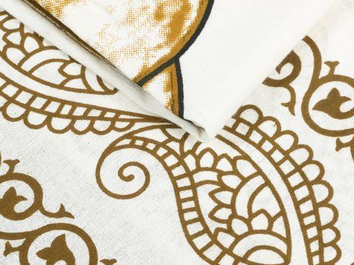 Wandtuch Ganesha weiß braun im Detail