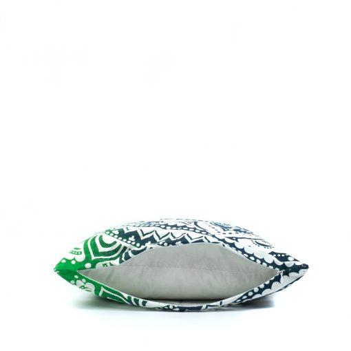 Grünes Mandala Kissen mit Reissverschluss