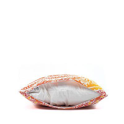 Kissen Ombre Mandala rot gelb,, mit Reissverschluss