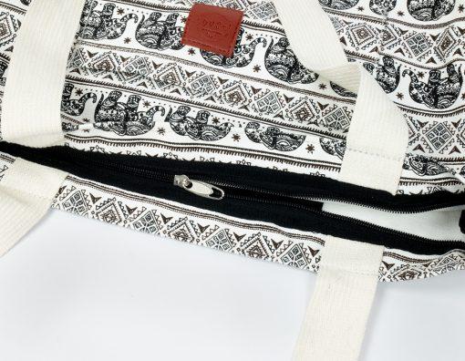 Canvas Shopper mit Reissverschluss