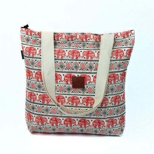 T-Bags Thailand Elefanten Shopper in rot