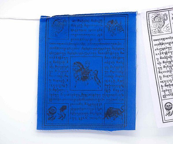 Tibetische Gebetsfahnen Windpferd - blau
