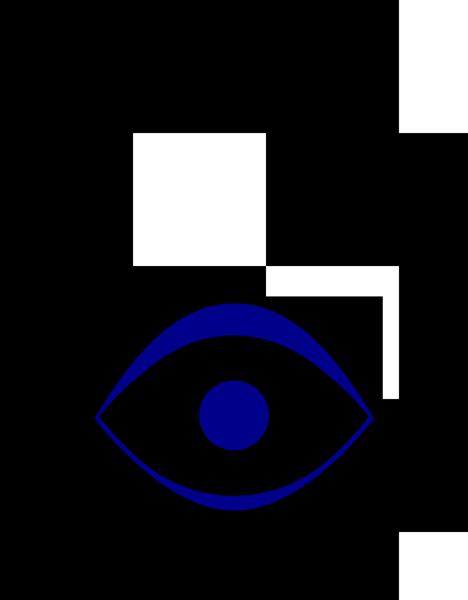 Fatimas Hand als Symbol in blau