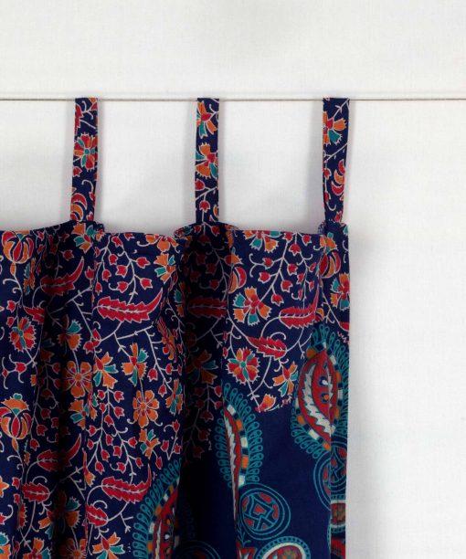 Mandala Vorhang mit Schlaufen