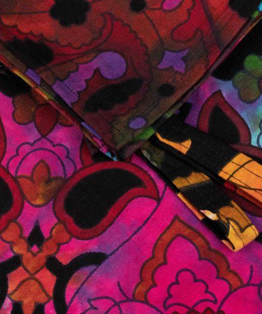Mandala Vorhang Stern batik bunt details