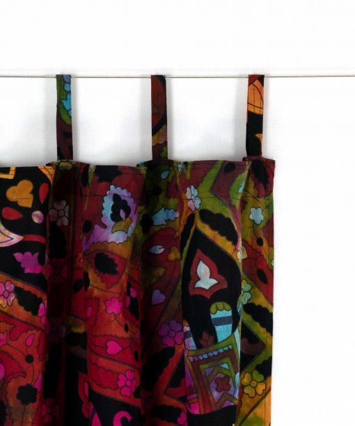 Mandala Vorhang Stern batik bunt mit Schlaufen