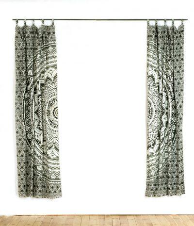 Vorhang Ombre Mandala schwarz grau
