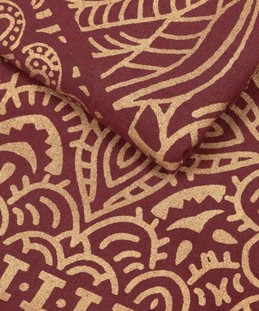 Gold Wandtuch Fatimas Hand weinrot groß ca. 210x230 cm Nahaufnahem