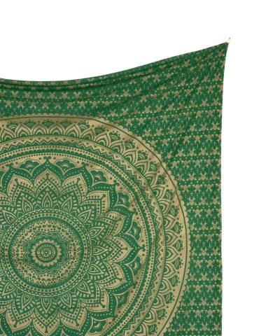Gold Wandtuch Ombre Mandala grün groß ca. 210x230 cm Detail