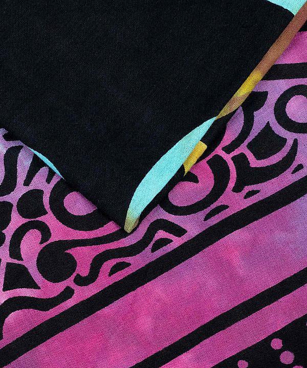 Goa Wandtuch Om Zeichen batik buntWandtuch mit Ohm Zeichen batik bunt - groß ca. 210x230 cm
