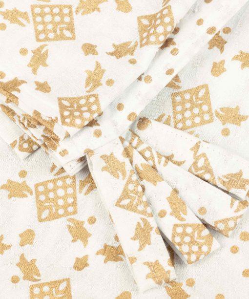 Vorhang Ombre Mandala weiß gold Schlaufen