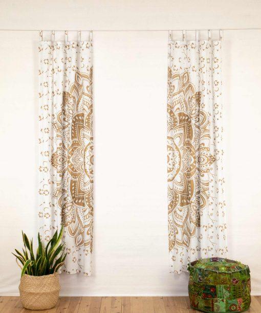 Vorhang goldener Lotus weiß offen