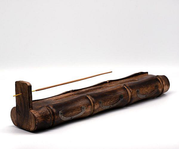 Räucherstäbchen Halter Bambus mit Vorratsfach