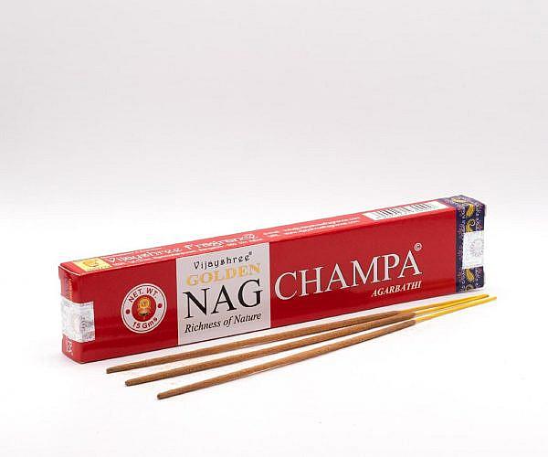 Räucherstäbchen golden Nag Champa Agarbathi Vijayshree 15g incense sticks