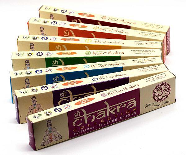 Räucherstäbchen Chakra Collection 7 Chakren