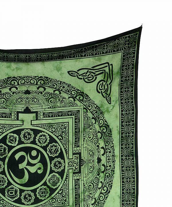 Wandtuch Ohm Zeichen batik grün - groß