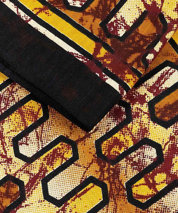 Wandtuch mit Hindugott Shiva in gelb rot schwarz - groß 210x230 cm