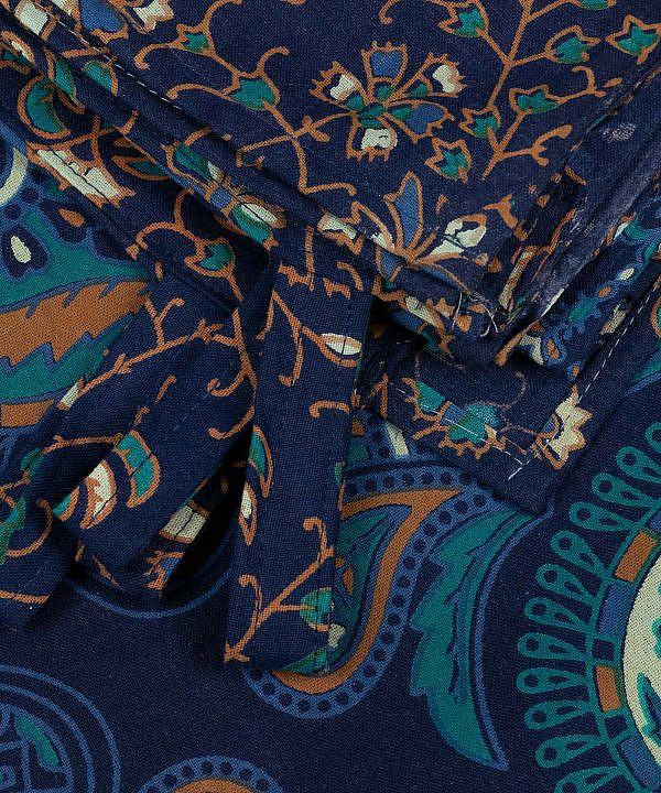 Vorhang Pfauenfeder Mandala blau türkis ca. 210x230 cm