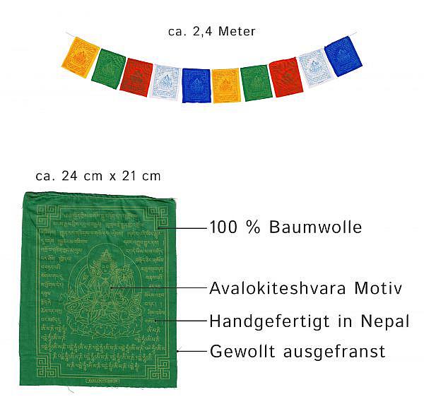 Gebetsfahne Avalokiteshvara