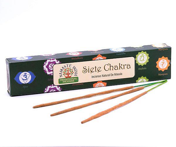 Räucherstäbchen Namaste India 7 Chakren