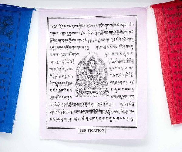 Tibetische Gebetsfahnen weiße Tara - weiß