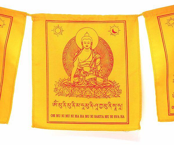Gebetsfahne Shakyamuni Buddha gelb