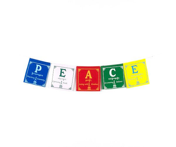 Gebetsfahne mit Friedens Gebeten